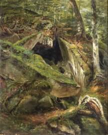 John Frederick Kensett (American. 1816-1872) Oil on