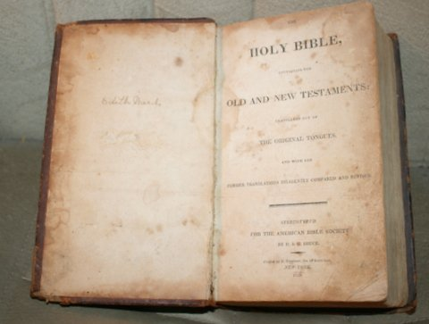 HOLY BIBLE OLD & NEW TESTAMENT D G BRUCE 1820 - Feb 12, 2015