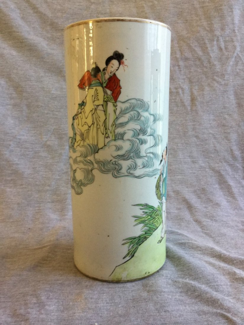 A Chinese Porcelain Hatstand Vase Republic Period