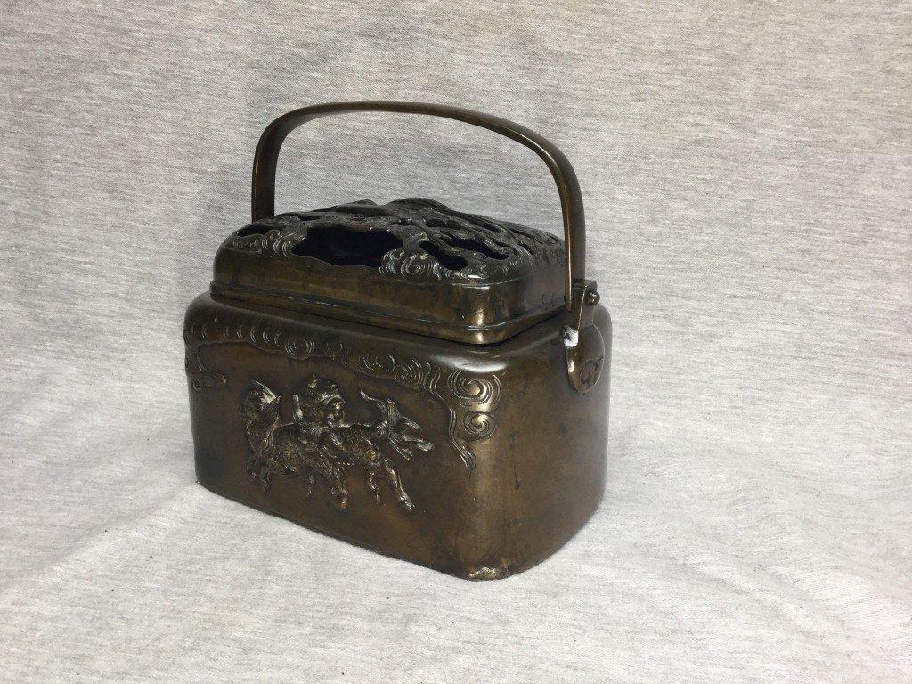 An Asian Bronze Censer or Warmer