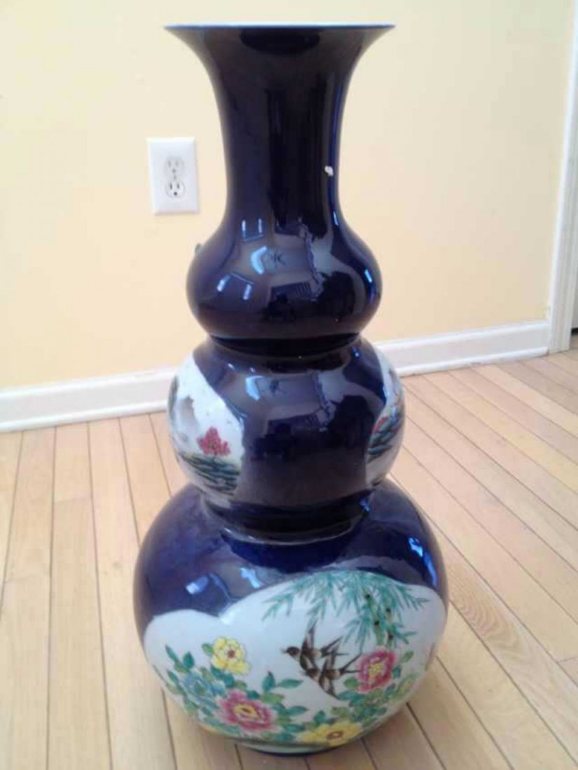 A Monumental Chinese Triple Gourd Vase
