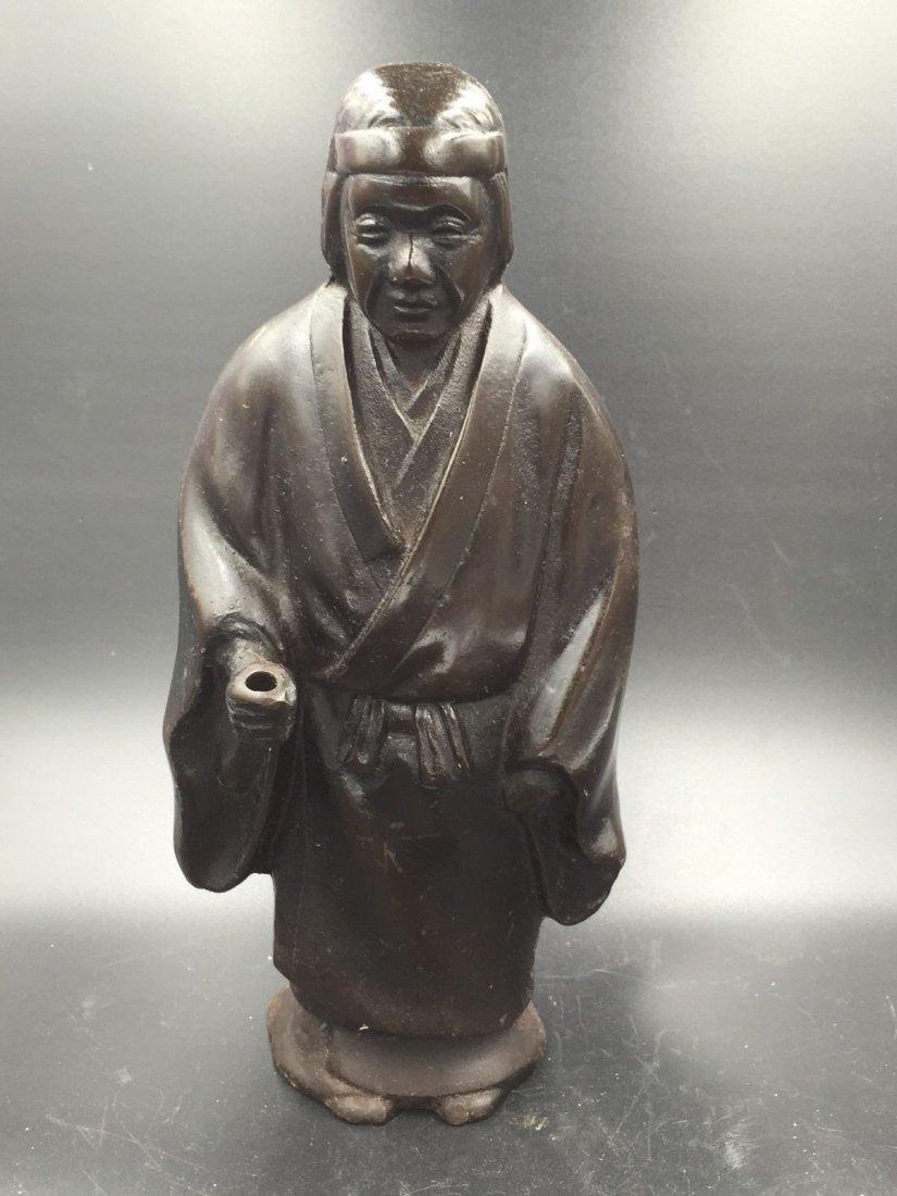 An Asian Bronze Iron Metal Figure