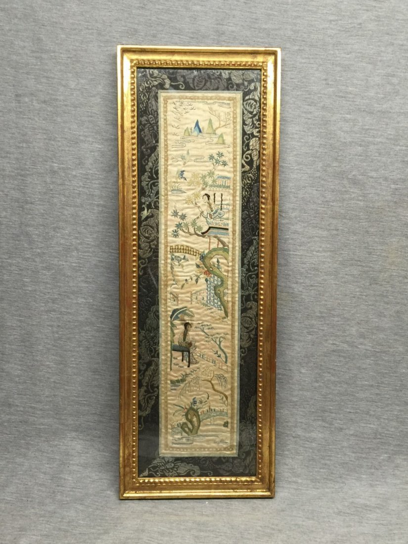 A Chinese Qing Dynasty Textile Panel A
