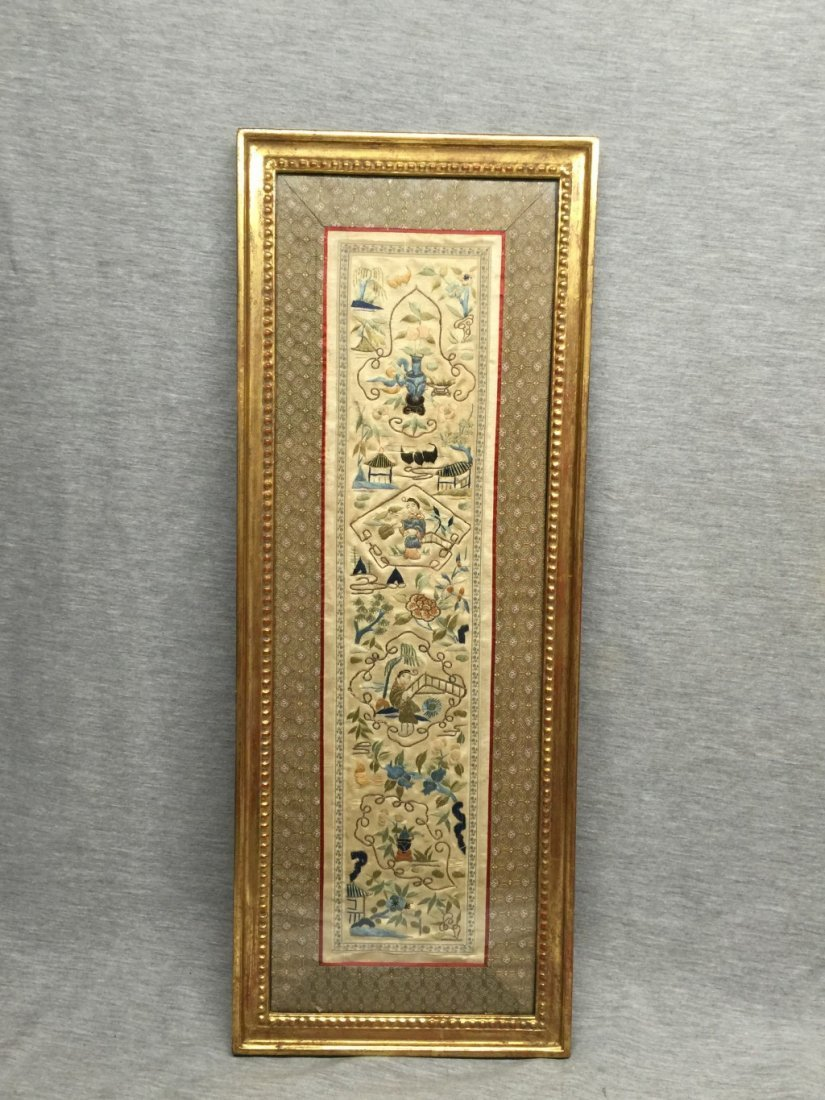 A Chinese Qing Dynasty Textile Panel B