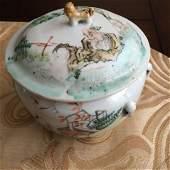 A Chinese Qianjiang Lidded Jar Qing Dynasty Tongzhi