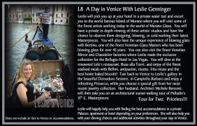 A Day In Venice With Leslie Genninger