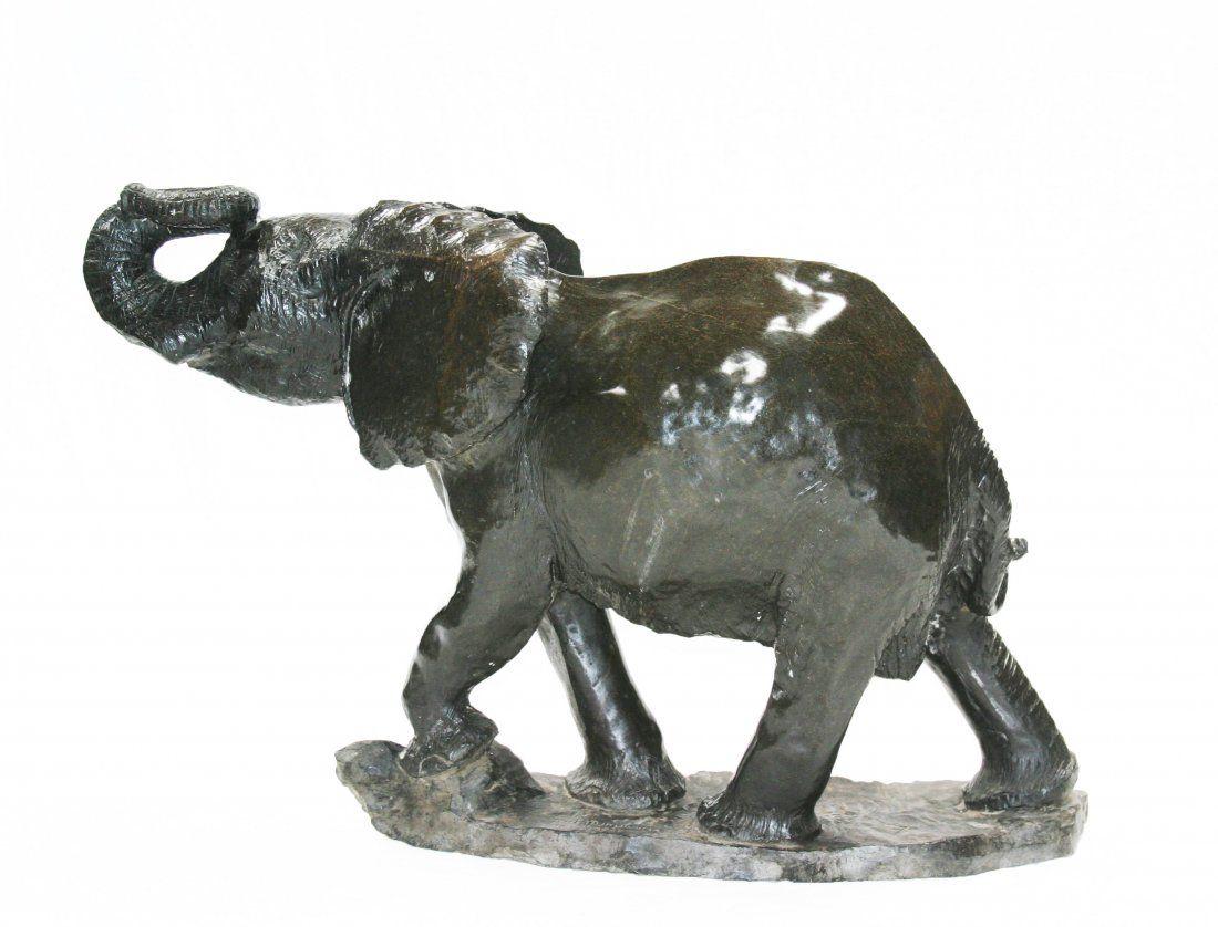 Shona (Zimbabwe) Stone Sculptures: Prosperity Elephant