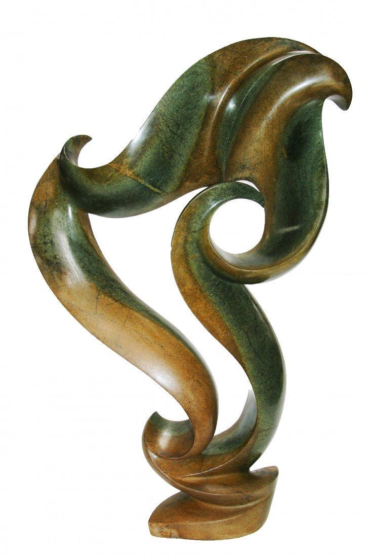 Shona (Zimbabwe) Stone Sculptures: Cresting Waves