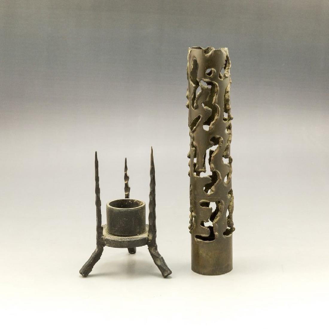 Palombo Brutalist Iron Candle Holder - 2