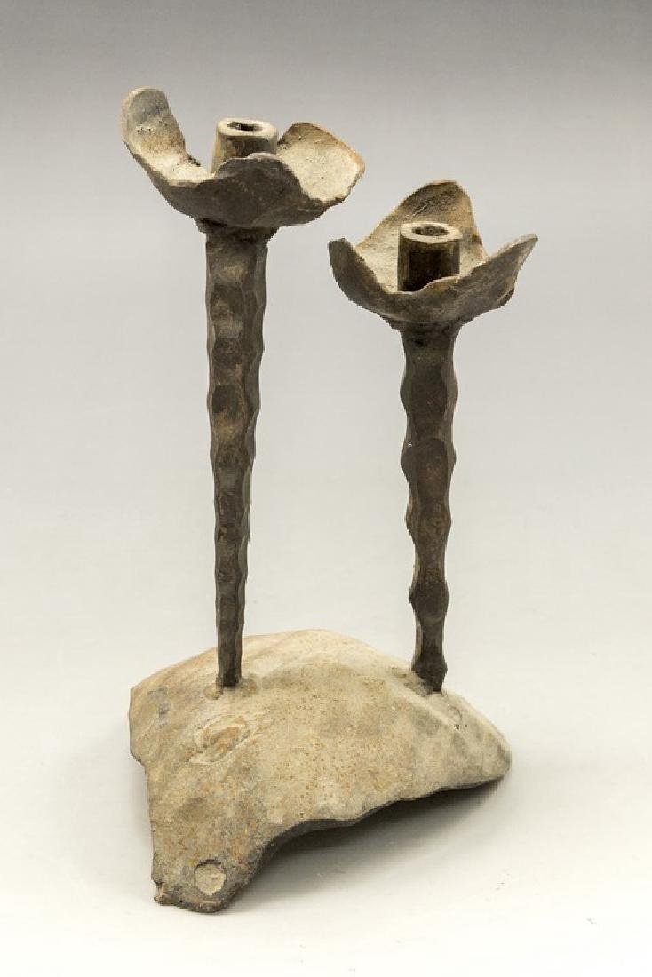 Palombo Brutalist Iron Candle Holder