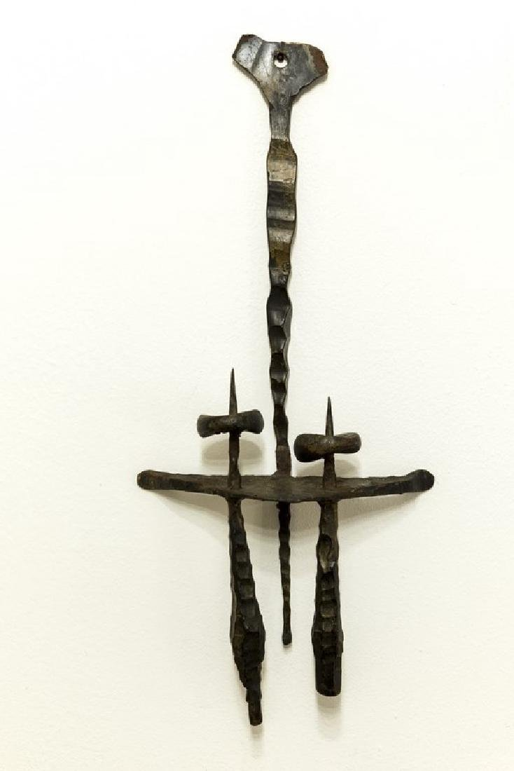 Palombo Brutalist Iron Candle Holder