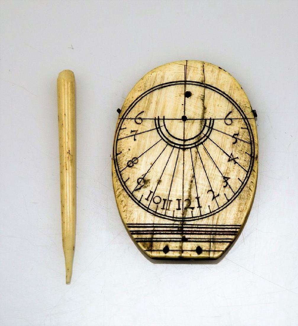 19th Century Bone Sundial - 2