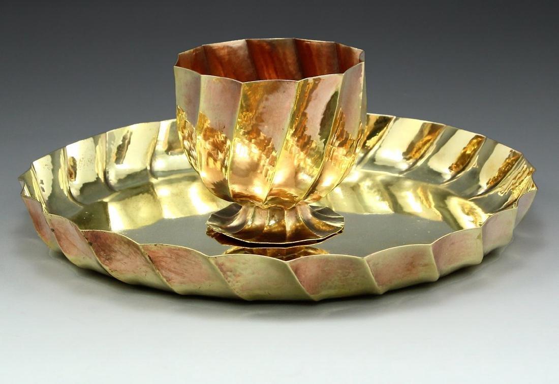 Wiener Werkstätte tray & bowl, Josef Hoffmann