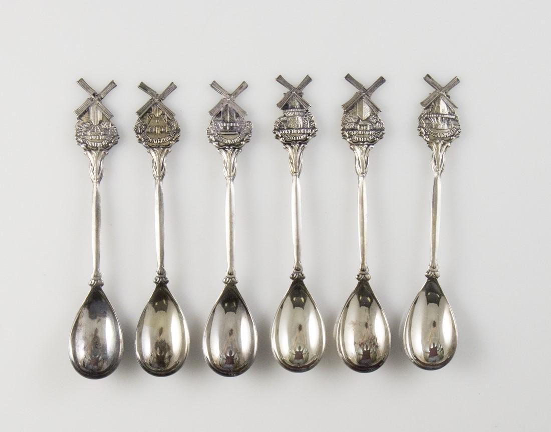 Set of Dutch Silver Teaspoons - 2