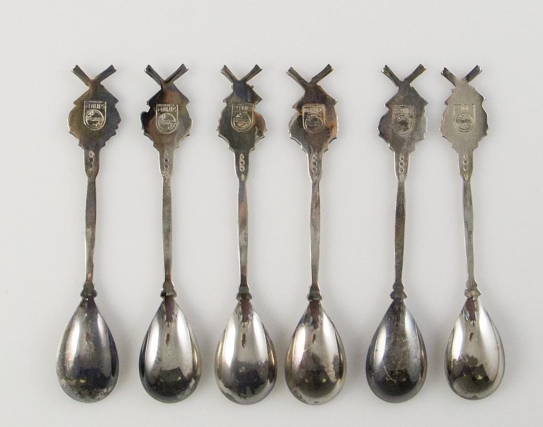 Set of Dutch Silver Teaspoons - 3