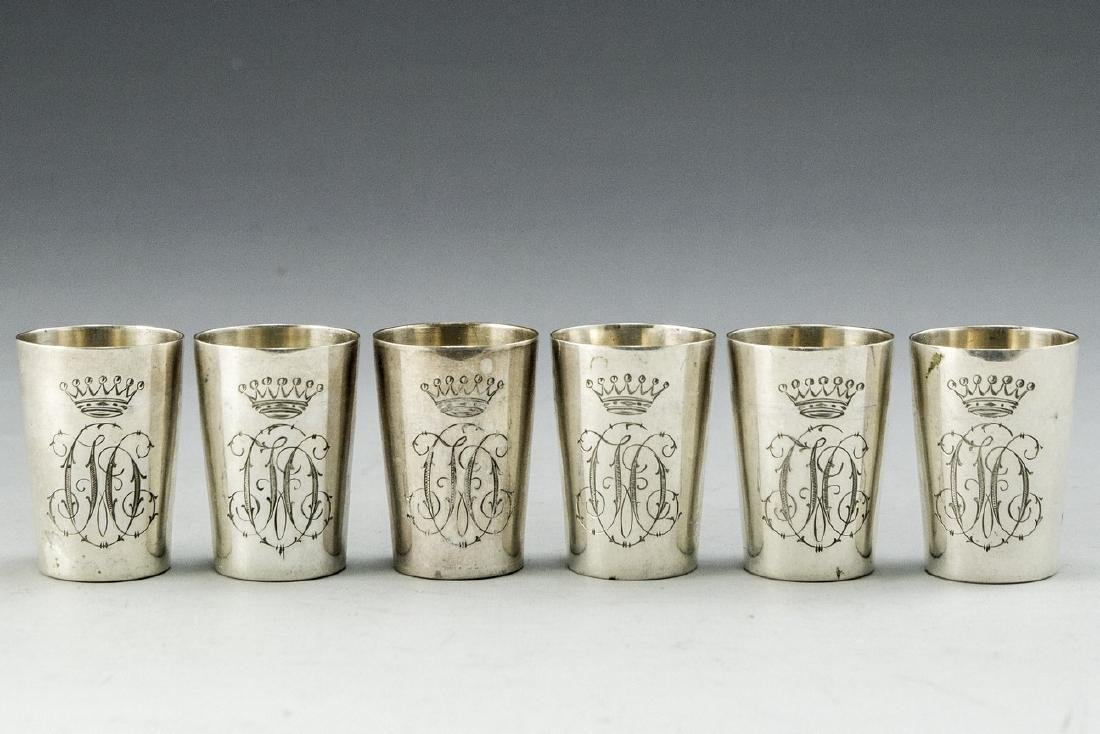 Set of German Silver Cups