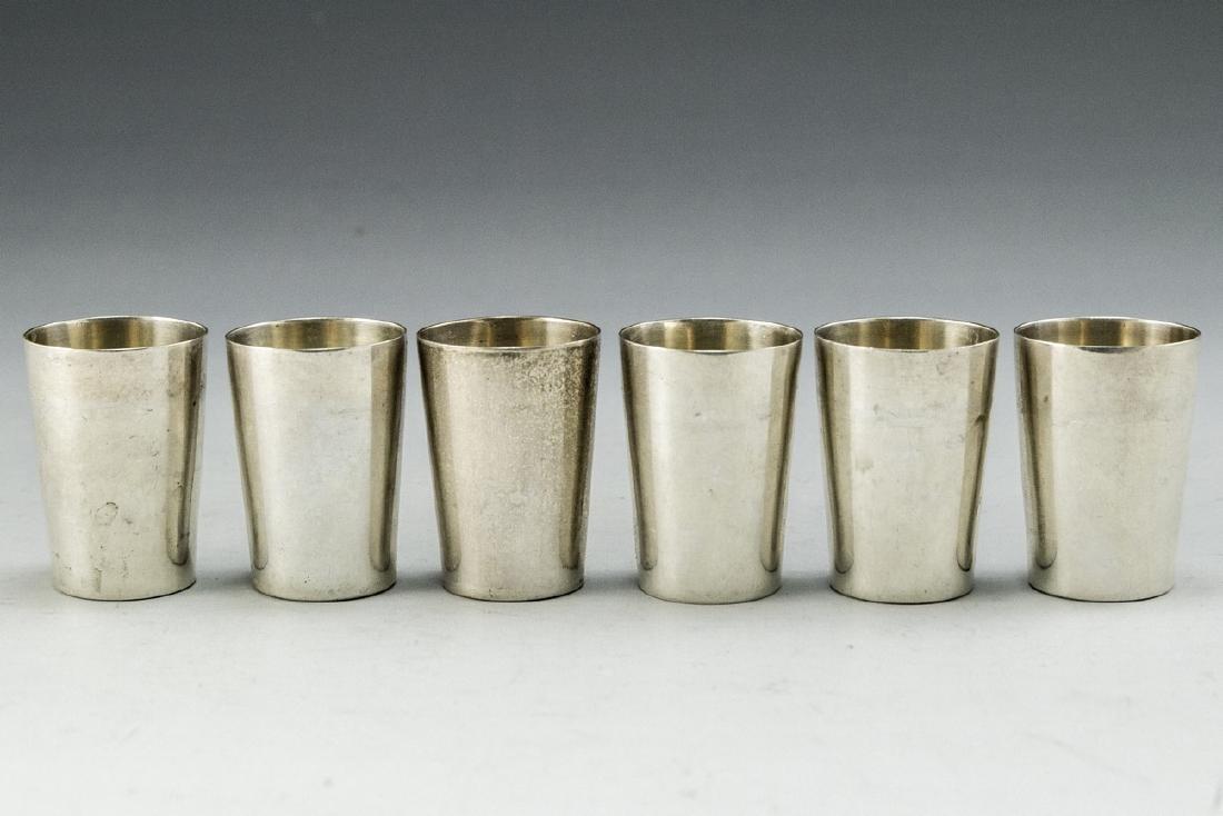 Set of German Silver Cups - 3