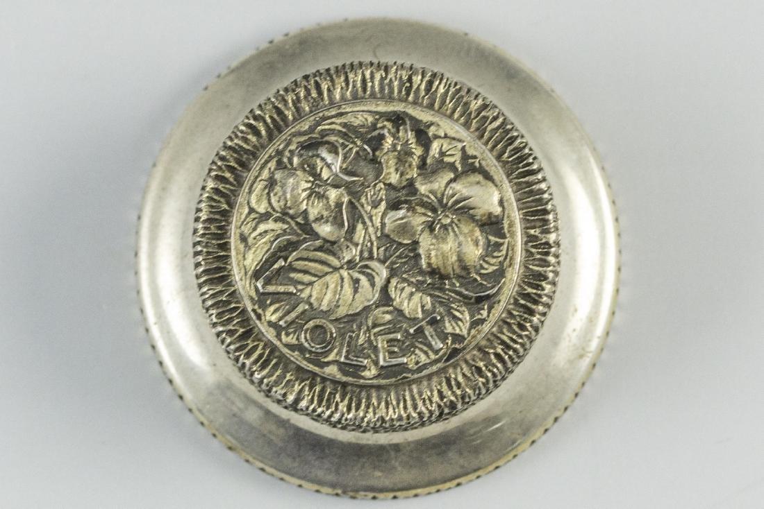 English Silver Pillbox