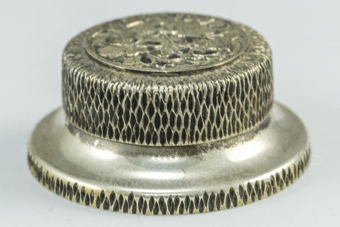 English Silver Pillbox - 3