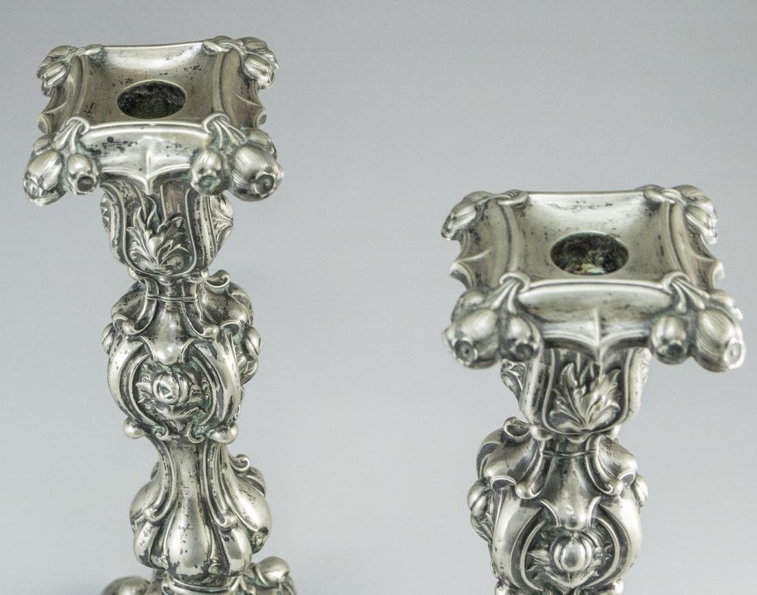Pair of Silver Candlesticks - 2