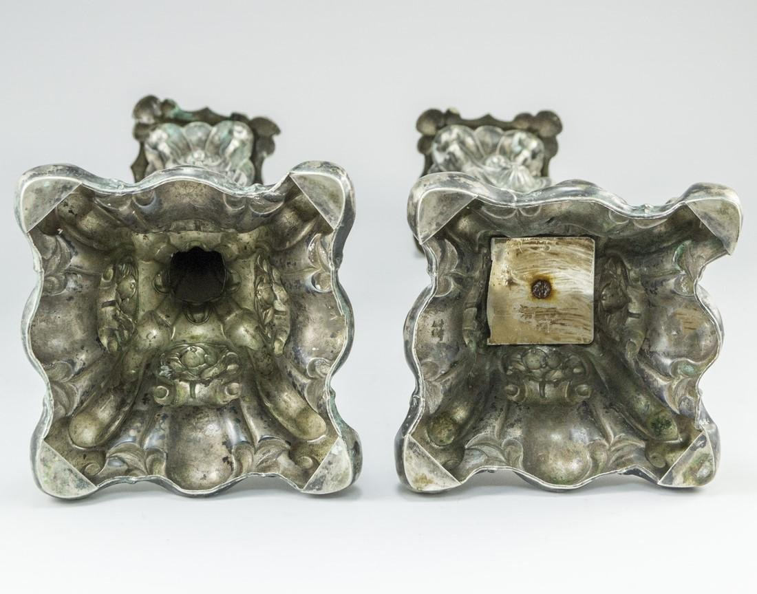 Pair of Silver Candlesticks - 5