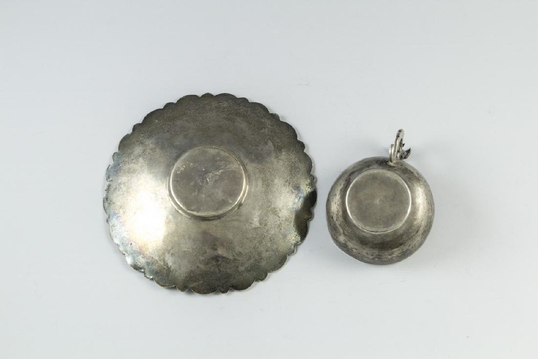 Set of Iraqi Silver Cup and Coaster - 6