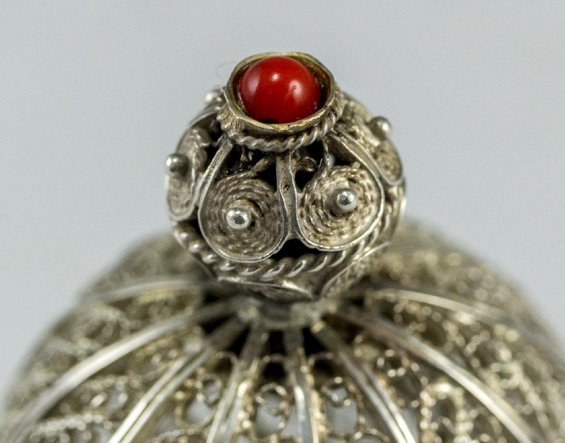 Israeli Silver and Filigree Spice Container - 5