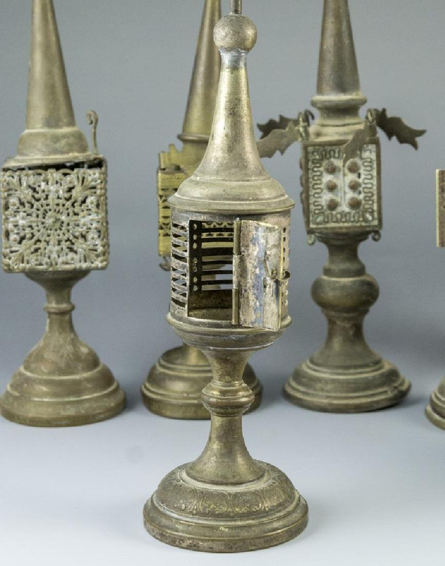 Lot of Silver Plated Spice Towers - 5