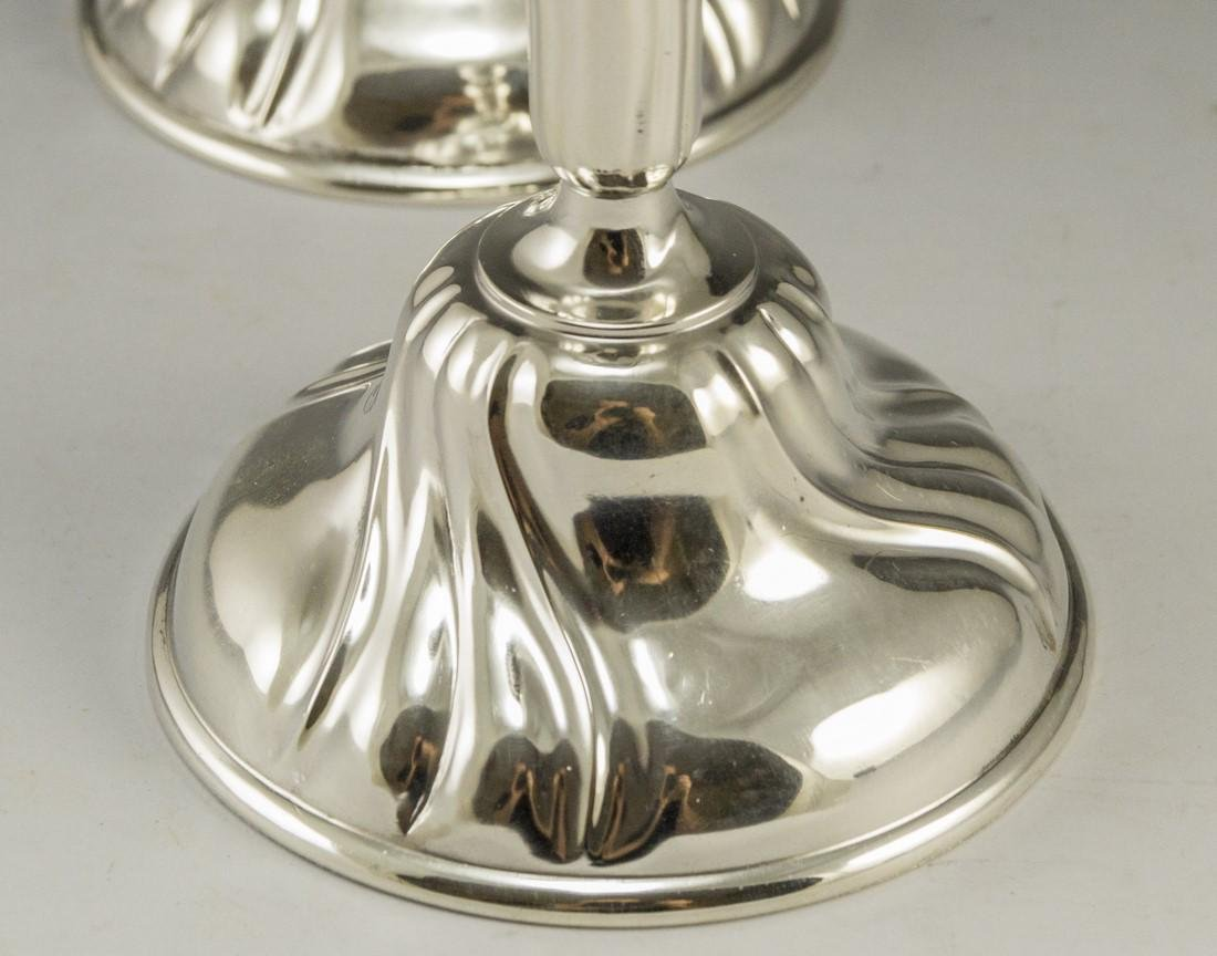 Pair of Silver Candlesticks - 3