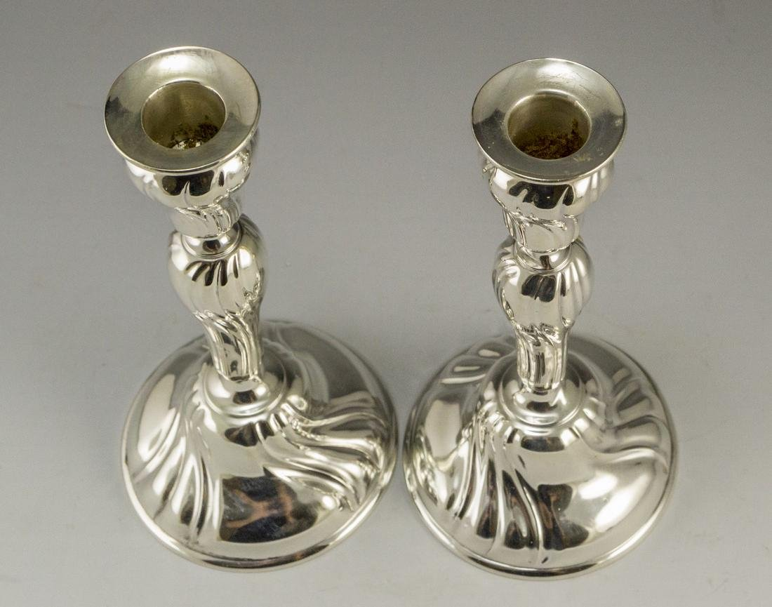 Pair of Silver Candlesticks - 4