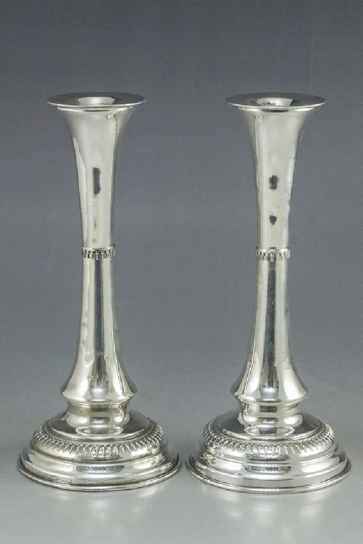 Silver Shabbat Candlesticks