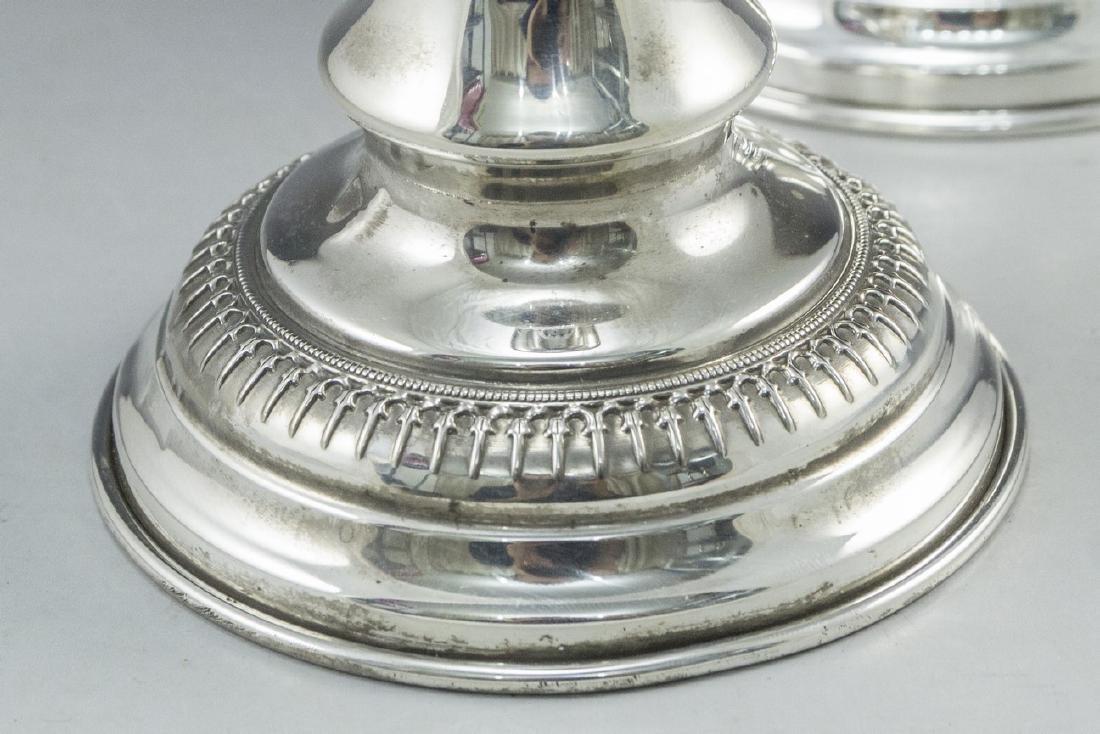 Silver Shabbat Candlesticks - 4