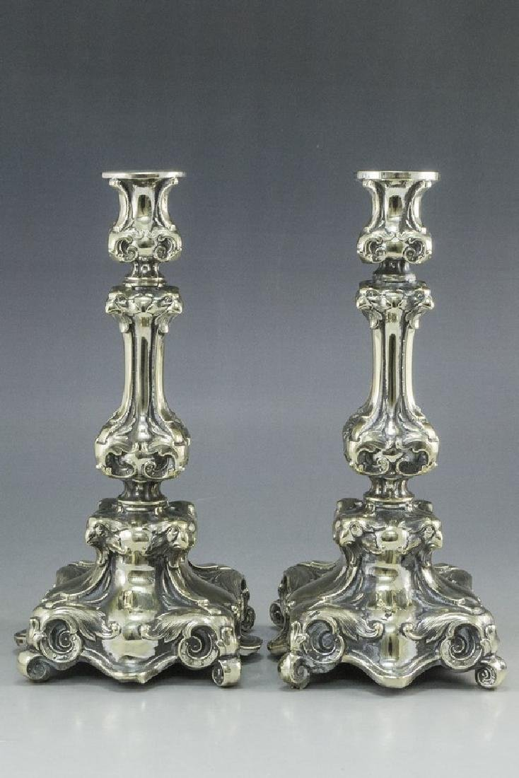 Pair of Shabbat Candlesticks