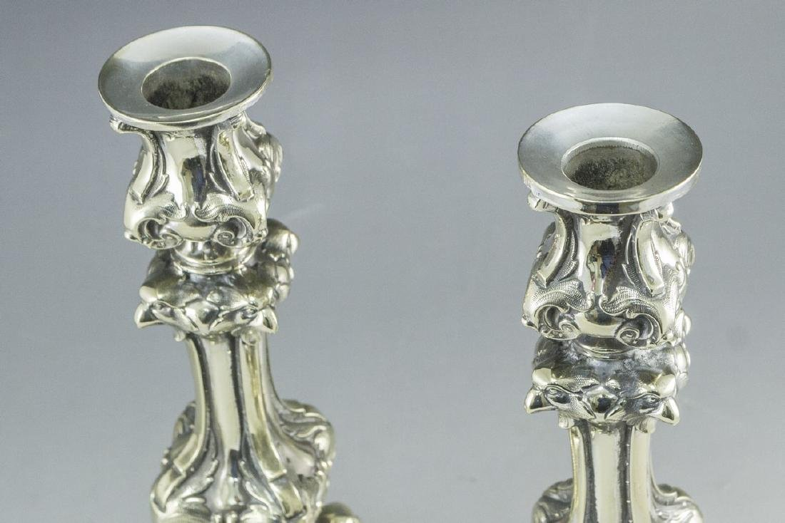 Pair of Shabbat Candlesticks - 4