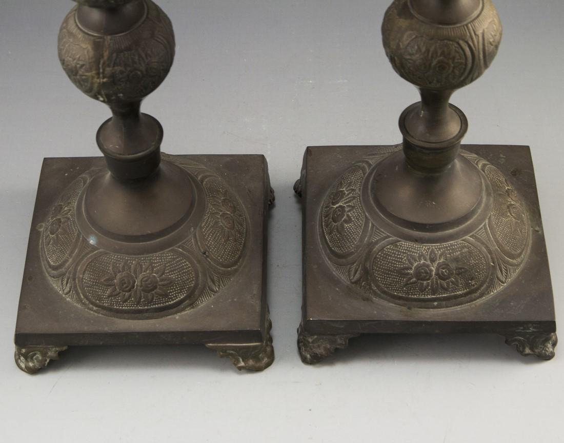 Pair of Shabbat Candlesticks - 2