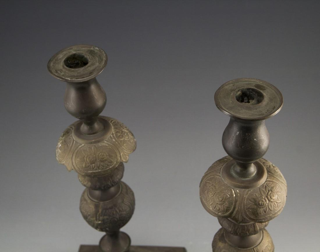 Pair of Shabbat Candlesticks - 3