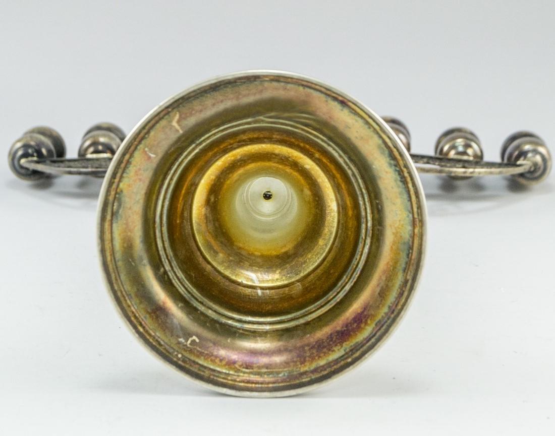 Israeli Silver Hanukkah Menorah - 5