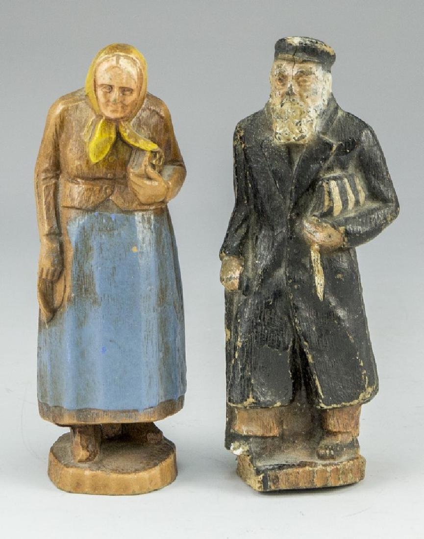 Jewish Bubbe and Zaydi Figures