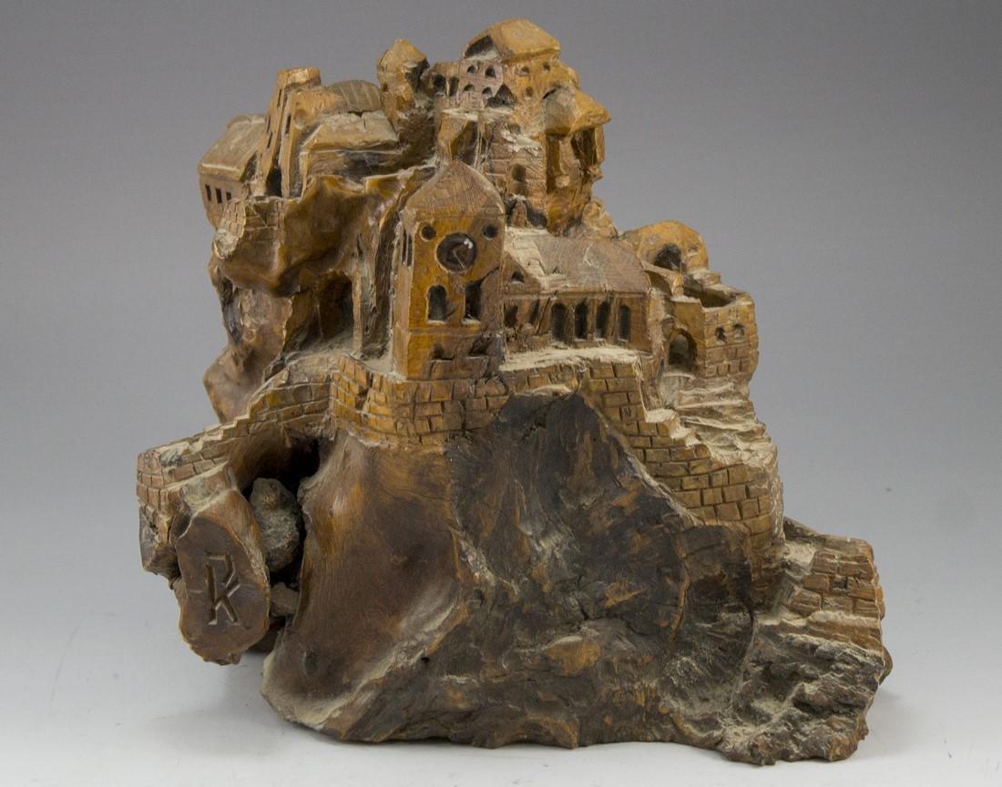 Carved Olivewood Sculpture - 2