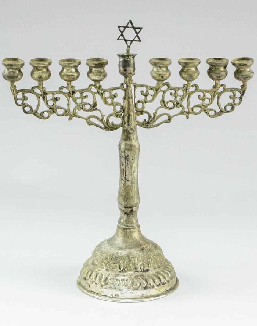 Israeli Silver Hanukkah Menorah