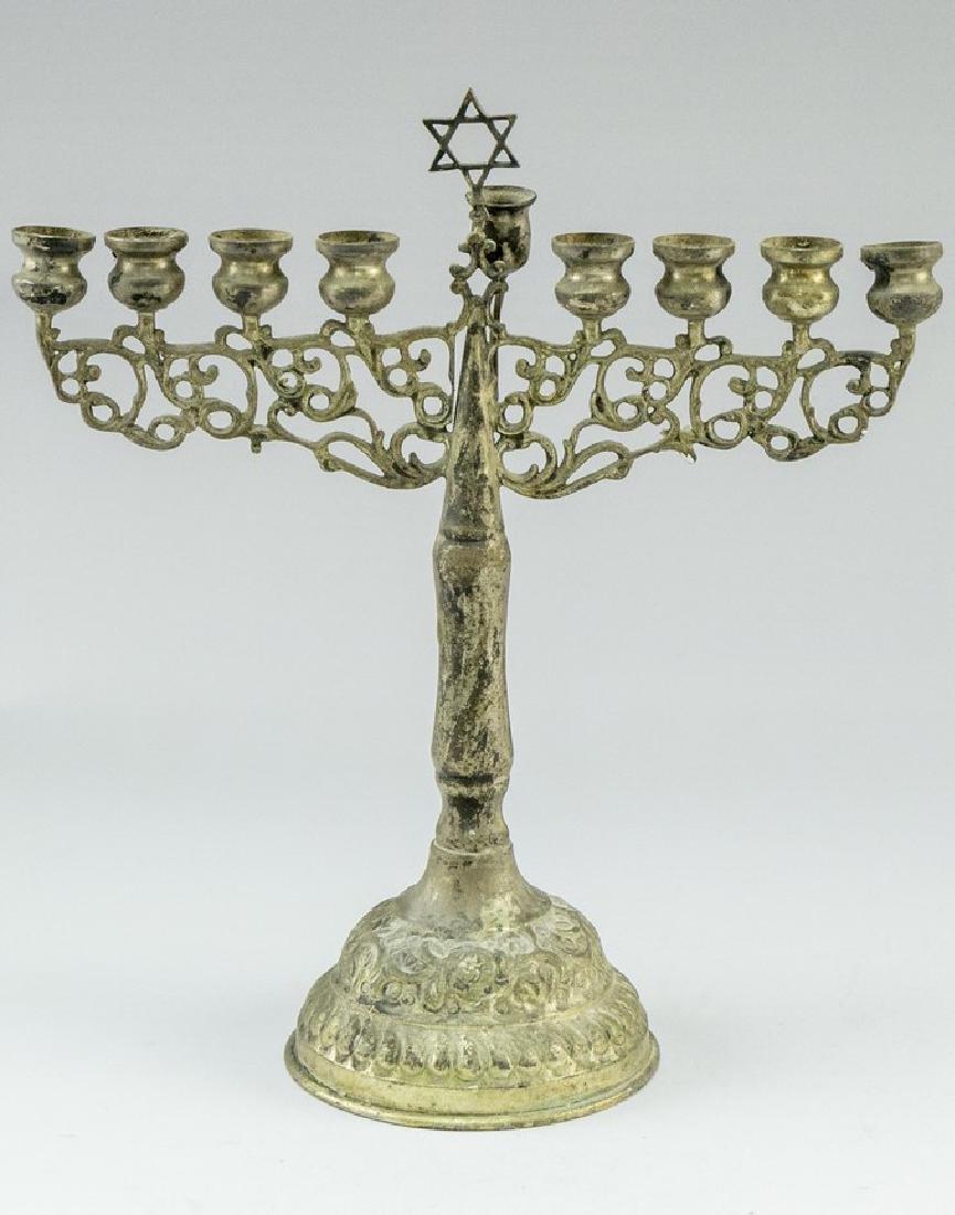 Israeli Silver Hanukkah Menorah - 2