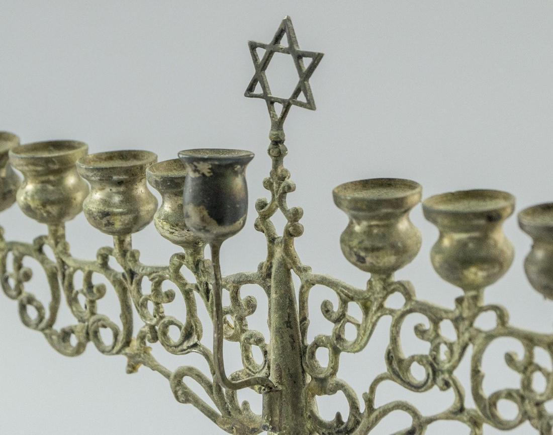 Israeli Silver Hanukkah Menorah - 3