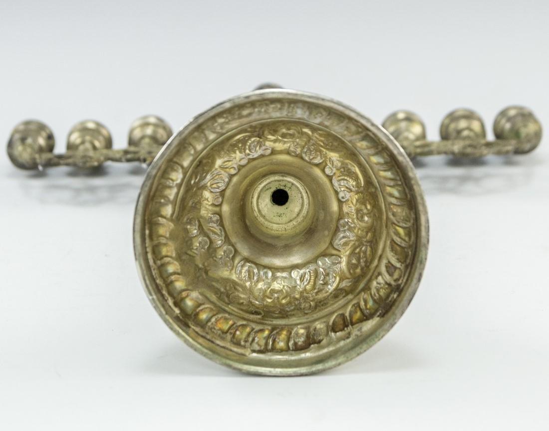Israeli Silver Hanukkah Menorah - 6