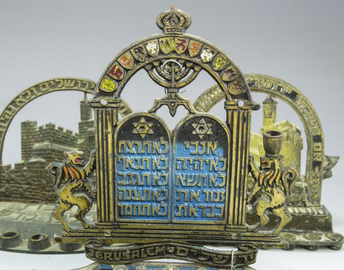 Lot of Israeli Hanukkah Menorahs - 4