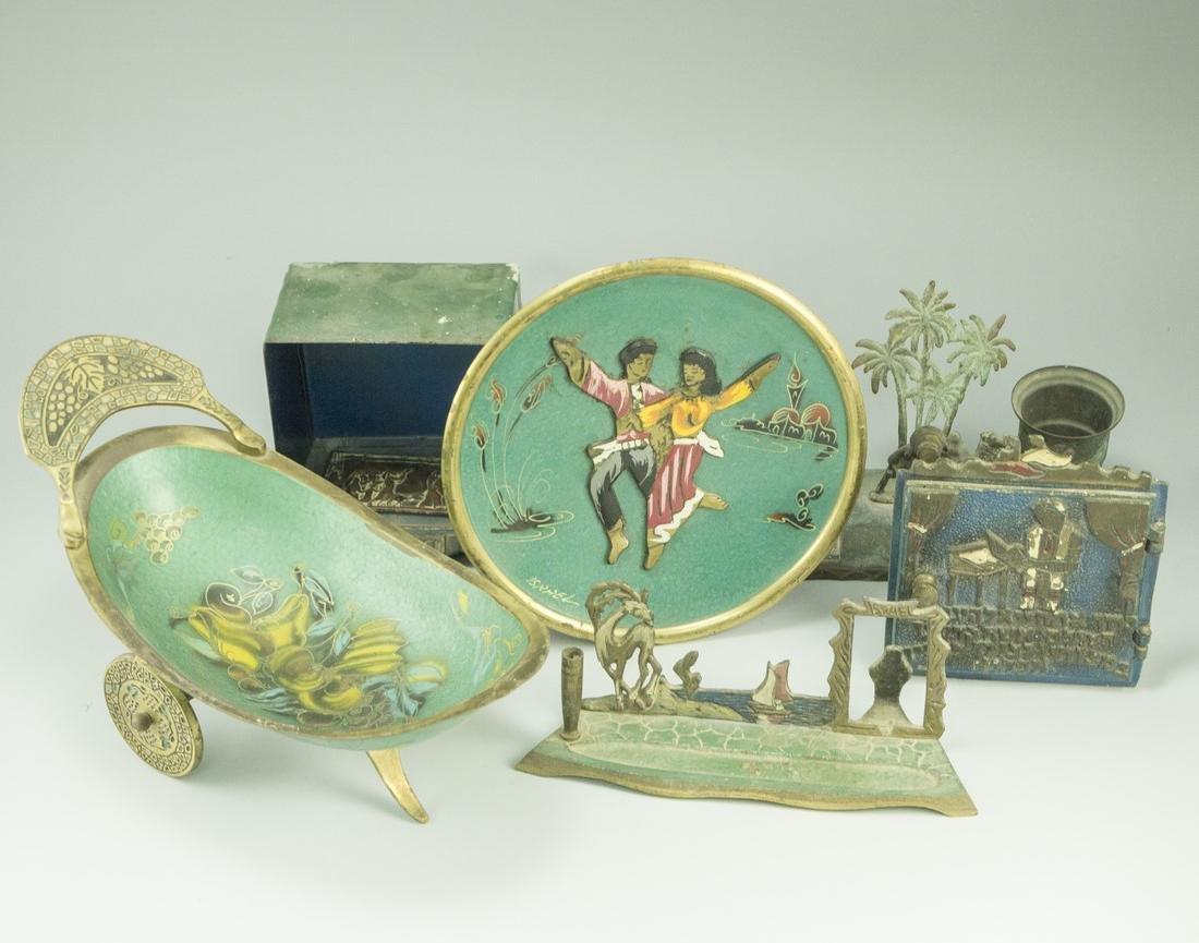 Lot of Israeli Brass Items