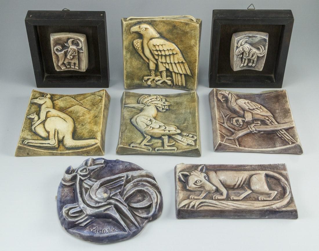 Lot of Ceramic Reliefs, Weishoff