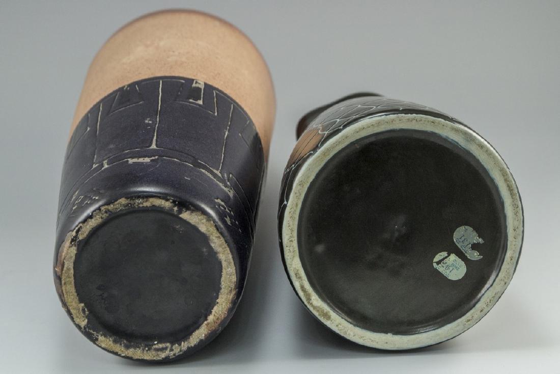 Lot of Israeli Ceramic Vases - 4
