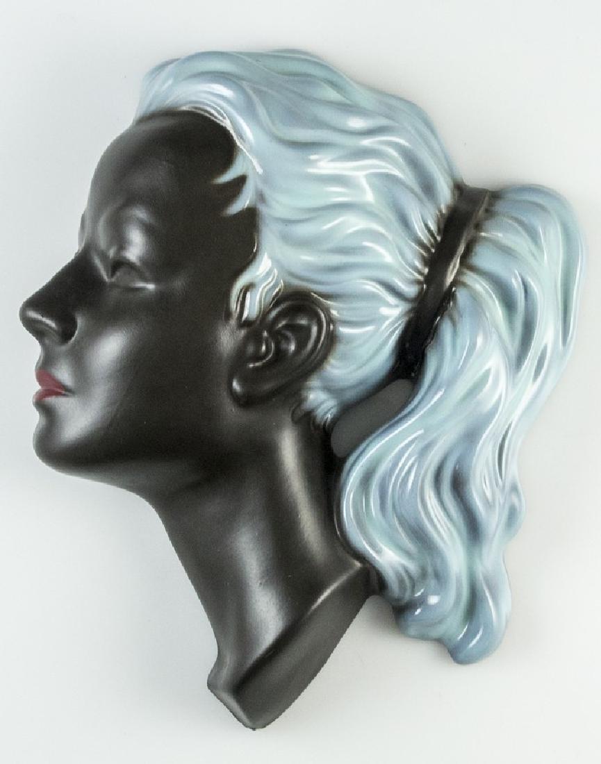 Mid Century Ceramic Wall Mask