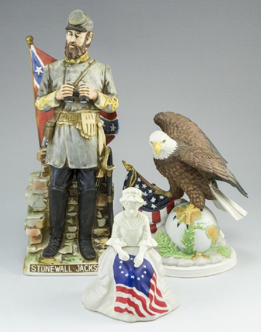 Lot of three American Ceramic Memorabilia Items