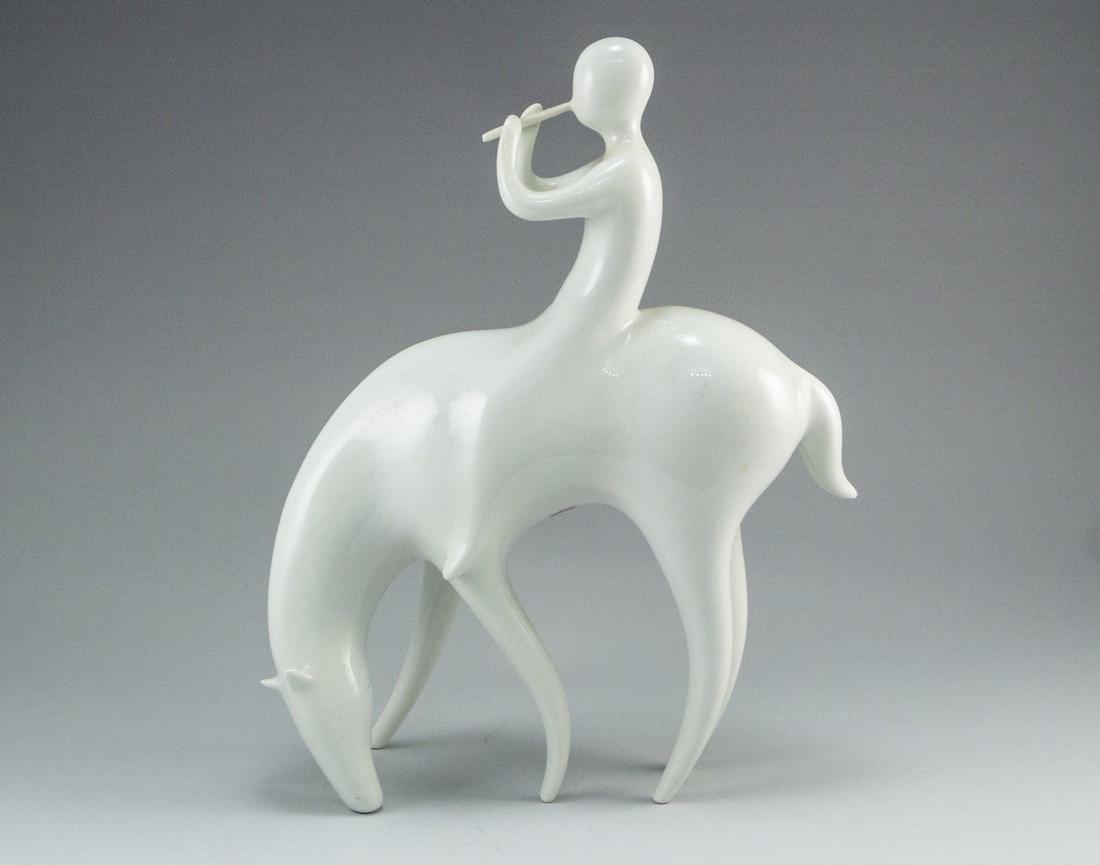 Modernist Porcelain Figurine, Royal Dux